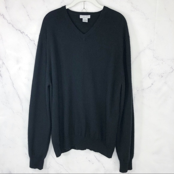 Oliver Perry cashmere v neck sweater Sz XL